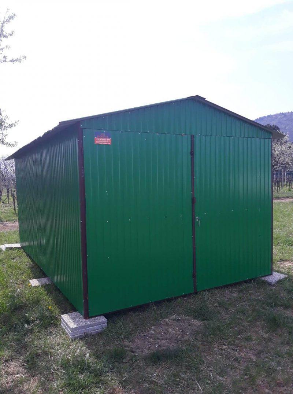 Plechová garáž sedlová strecha 3x5 szín