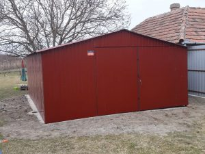Plechová garáž sedlová strecha 5x6 BTX 3009