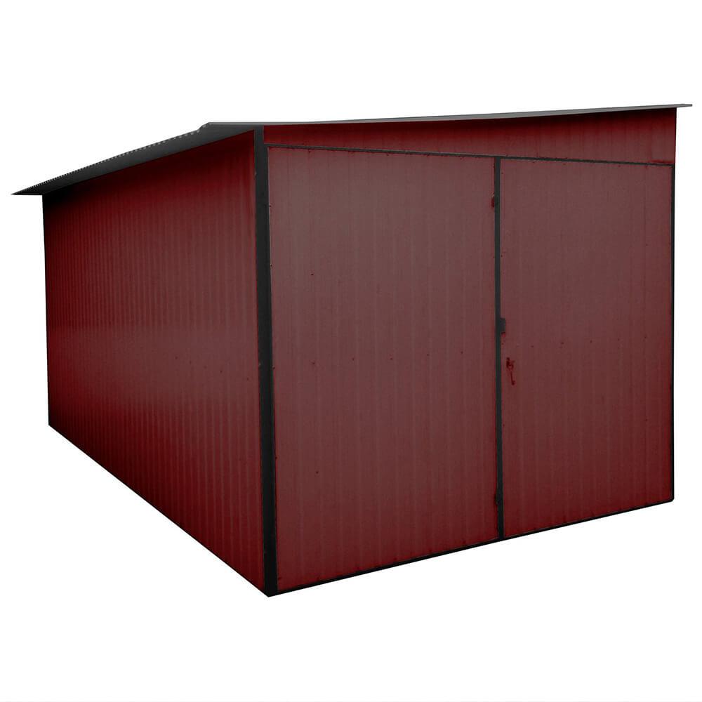 Plechové garáže - boční spád