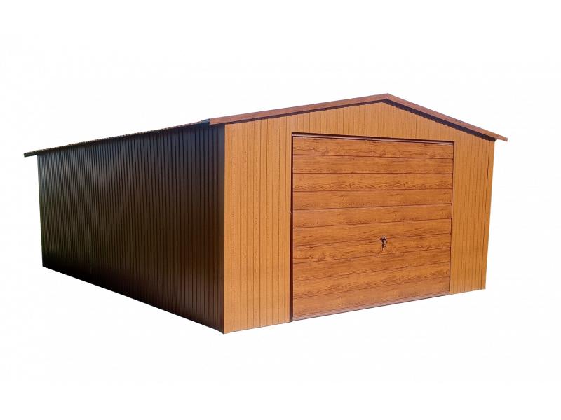 Plechové garáže - sedlová střecha