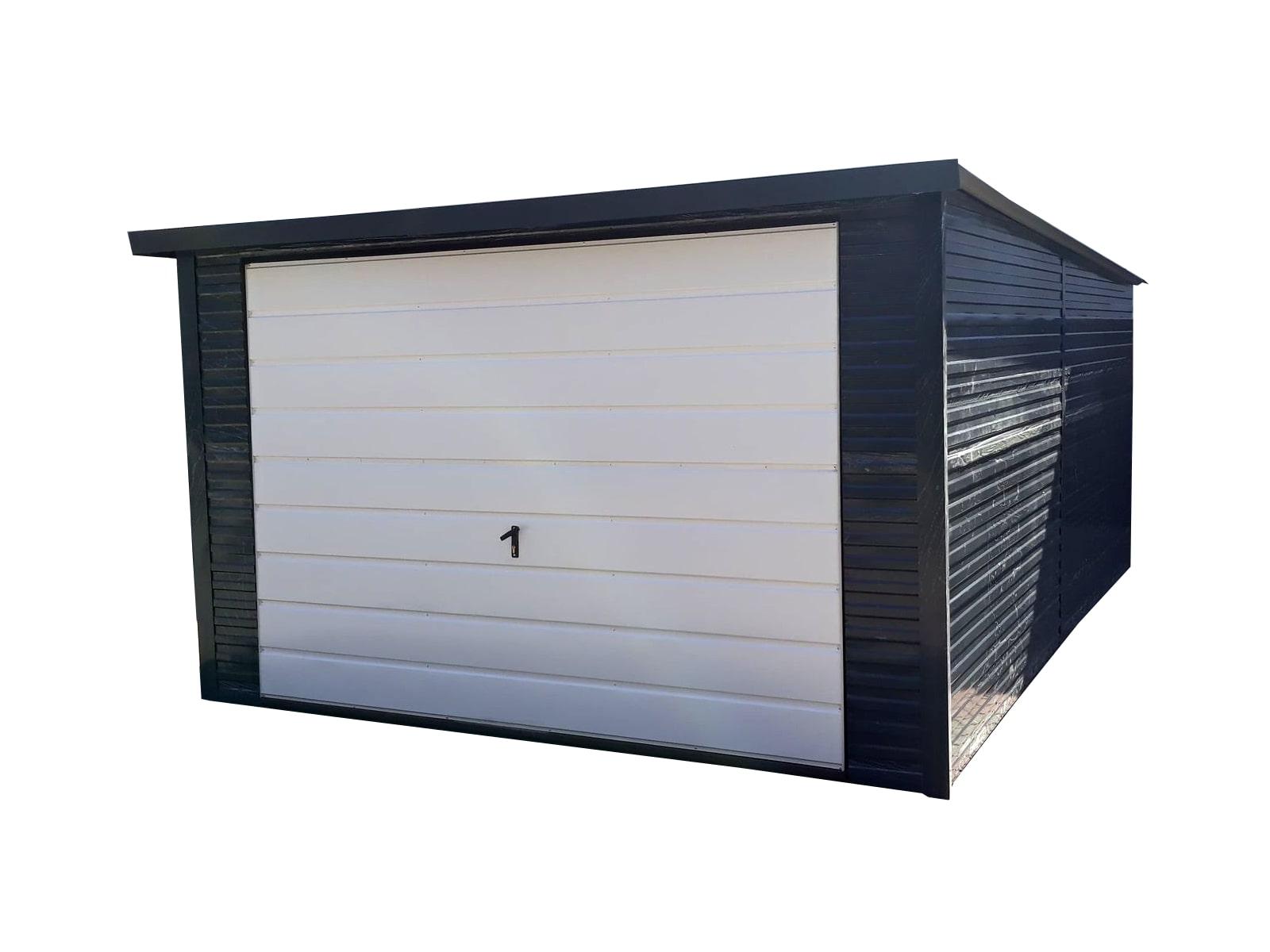 Plechové garáže - zadní spád